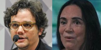 Wagner Moura e Regina Duarte