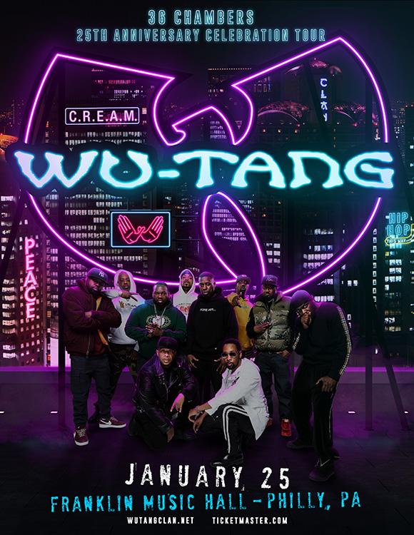 Pôster de turnê do Wu-Tang Clan