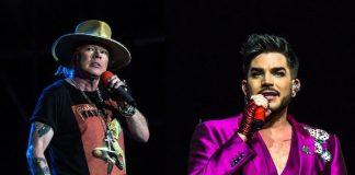 Axl Rose e Adam Lambert