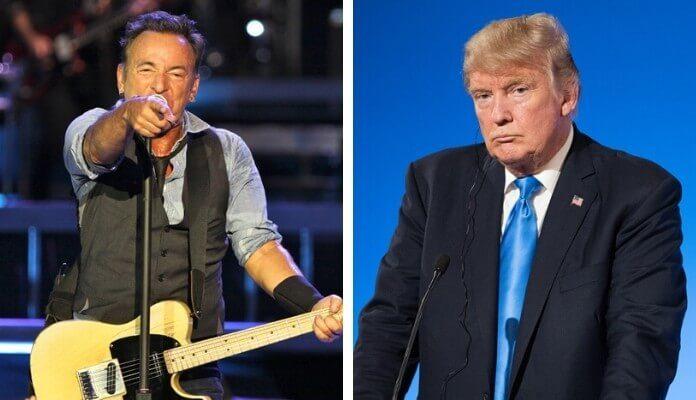 Bruce Springsteen e Donald Trump