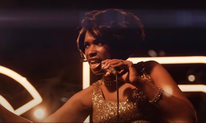 Jennifer Hudson como Aretha Franklin no trailer de