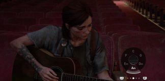 Ellie tocando violão em The Last of Us Part II