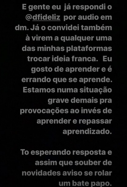 PC Siqueira responde Dfideliz
