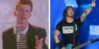 Rick Astley e Dave Grohl (Foo Fighters)