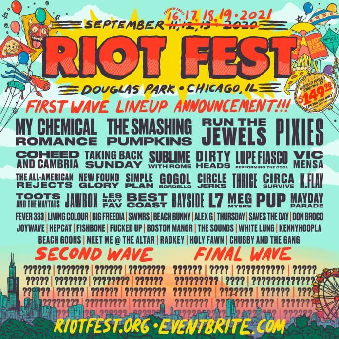 Riot Fest 2021 - Primeiro line-up