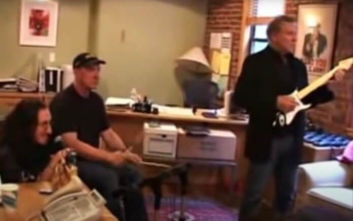 Rush jogando Rock Band
