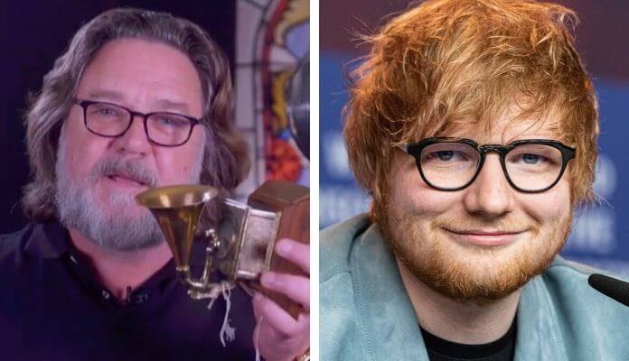 Russell Crowe e Ed Sheeran