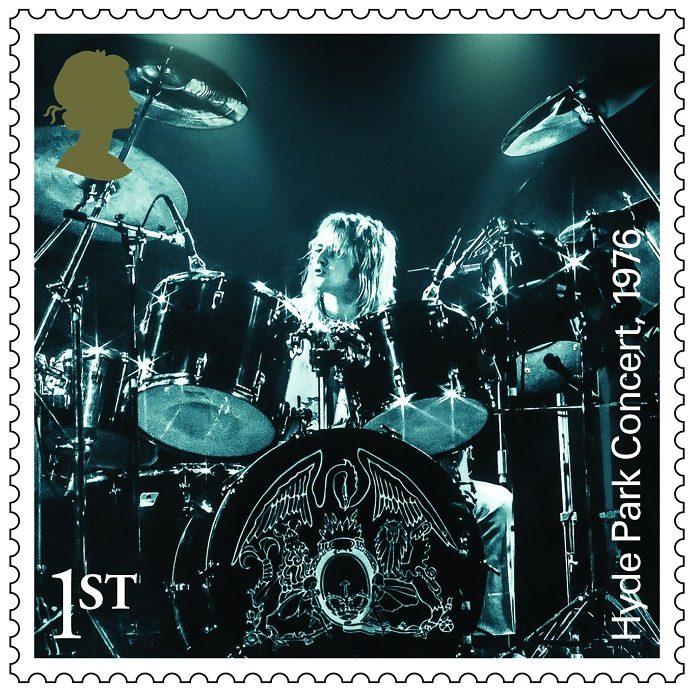 Roger Taylor em selos do Queen