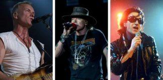 Sting, Axl Rose, Bono e mais: compare vozes no passado e hoje