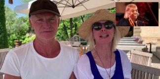 Sting e Trudie Styler dão parabéns a Gilberto Gil
