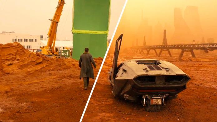 Blade Runner 2049 antes dos efeitos especiais