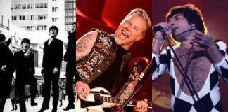 Beatles, Metallica e Queen