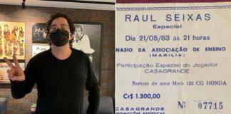 Casagrande e evento de Raul Seixas