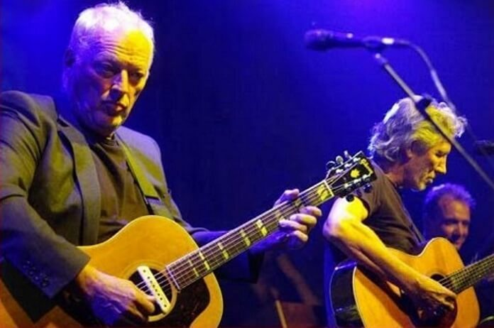 David Gilmour e Roger Waters em 2010