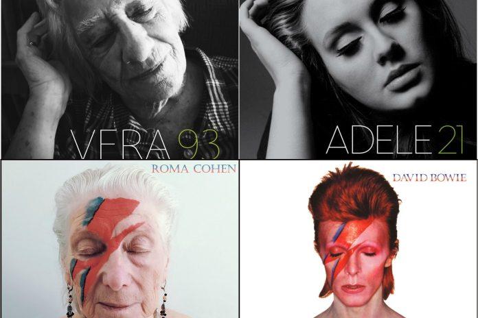 Idosos recriam capas de álbuns