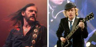 Lemmy Kilmister e Angus Young