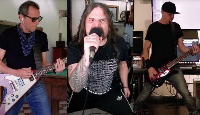 Sepultura tocando com Shavo Odadjian e Tony Bellotto