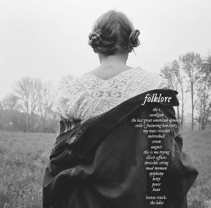 Tracklist de folklore, da Taylor Swift