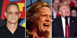 Tom Hanks, Sebastian Bach e Donald Trump
