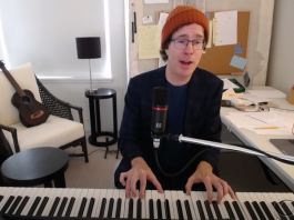 """Ben Folds no programa """"The Late Show with Stephen Colbert"""""""
