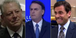 "Conversa de Bolsonaro com Al Gore vira cena de ""The Office"""