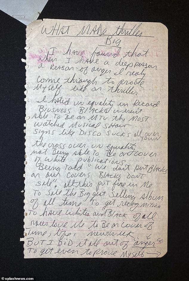 Texto de Michael Jackson em 1987