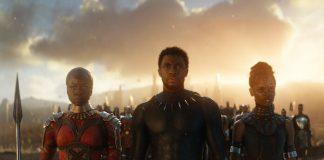 """Chadwick Boseman e Danai Gurira em """"Pantera Negra"""""""