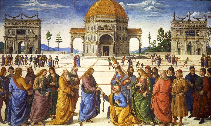 """""""Delivery of the Keys"""" (Pietro Perugino)"""