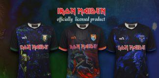 Novas camisetas de futebol do Iron Maiden