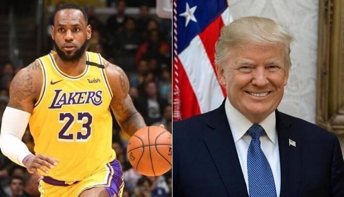 LeBron James e Donald Trump