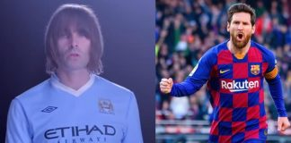 Liam Gallagher e Lionel Messi