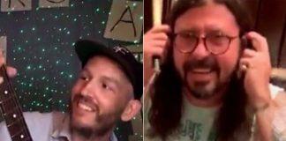Dave Grohl invade live de fã