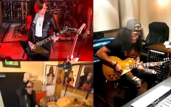 Lzzy Hale e Slash tocam Beatles