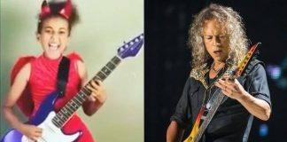 Nandi Bushell e Kirk Hammett