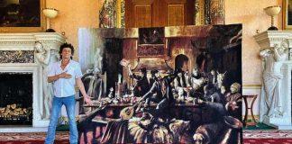 Ronnie Wood com sua arte
