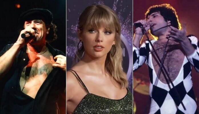 Taylor Swift desbanca bandas de Rock nas paradas