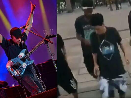 Tom Morello e funkeiros dançando Audioslave