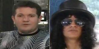 Ximbinha entrevistando Slash