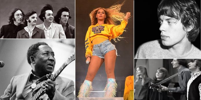 Beyoncé, Muddy Waters, Beatles, Rolling Stones e The Mamas and the Papas