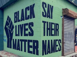 Mural do Black Lives Matter