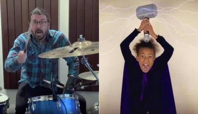 Dave Grohl (Foo Fighters) e Nandi Bushell
