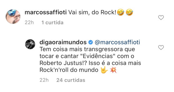 Comentário de Digão sobre Roberto Justus