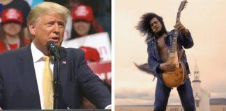 Donald Trump e Slash, do Guns N Roses