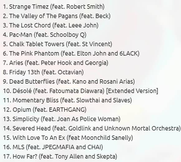 Tracklist de Song Machine