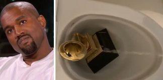 Kanye West urina no Grammy