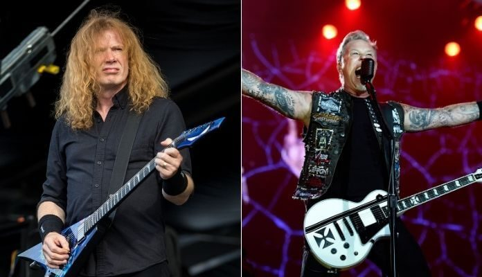 Dave Mustaine (Megadeth) e James Hetfield (Metallica)
