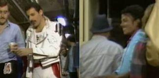 Queen e Michael Jackson em 1982
