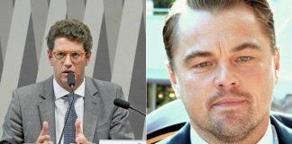 Ricardo Salles e Leonardo DiCaprio
