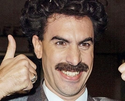 Sacha Baron Cohen como Borat em 2006