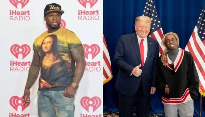 50 Cent e Lil Wayne com Donald Trump